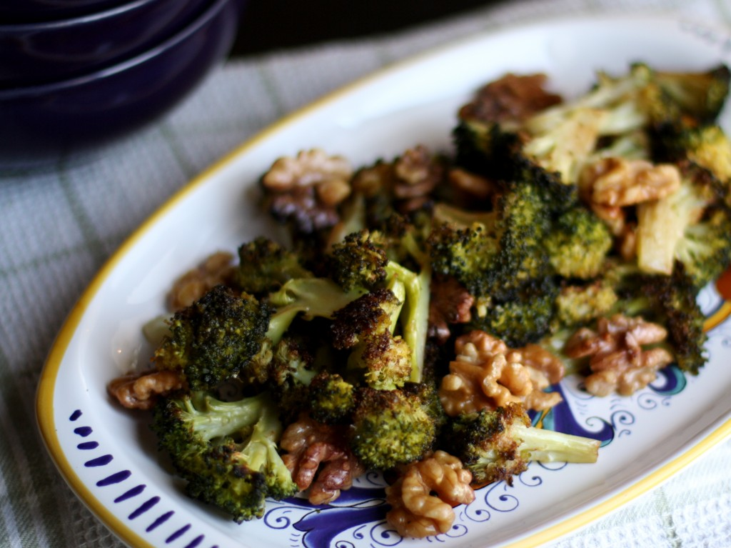 Roasted Broccoli with Walnuts