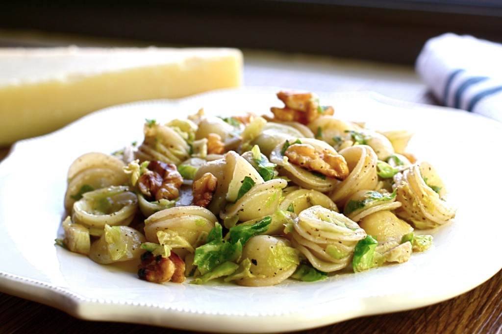 Pasta with Brussels Sprouts, Walnuts and Pecorino