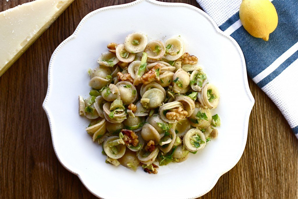 Brussels Sprout and Walnut Pasta