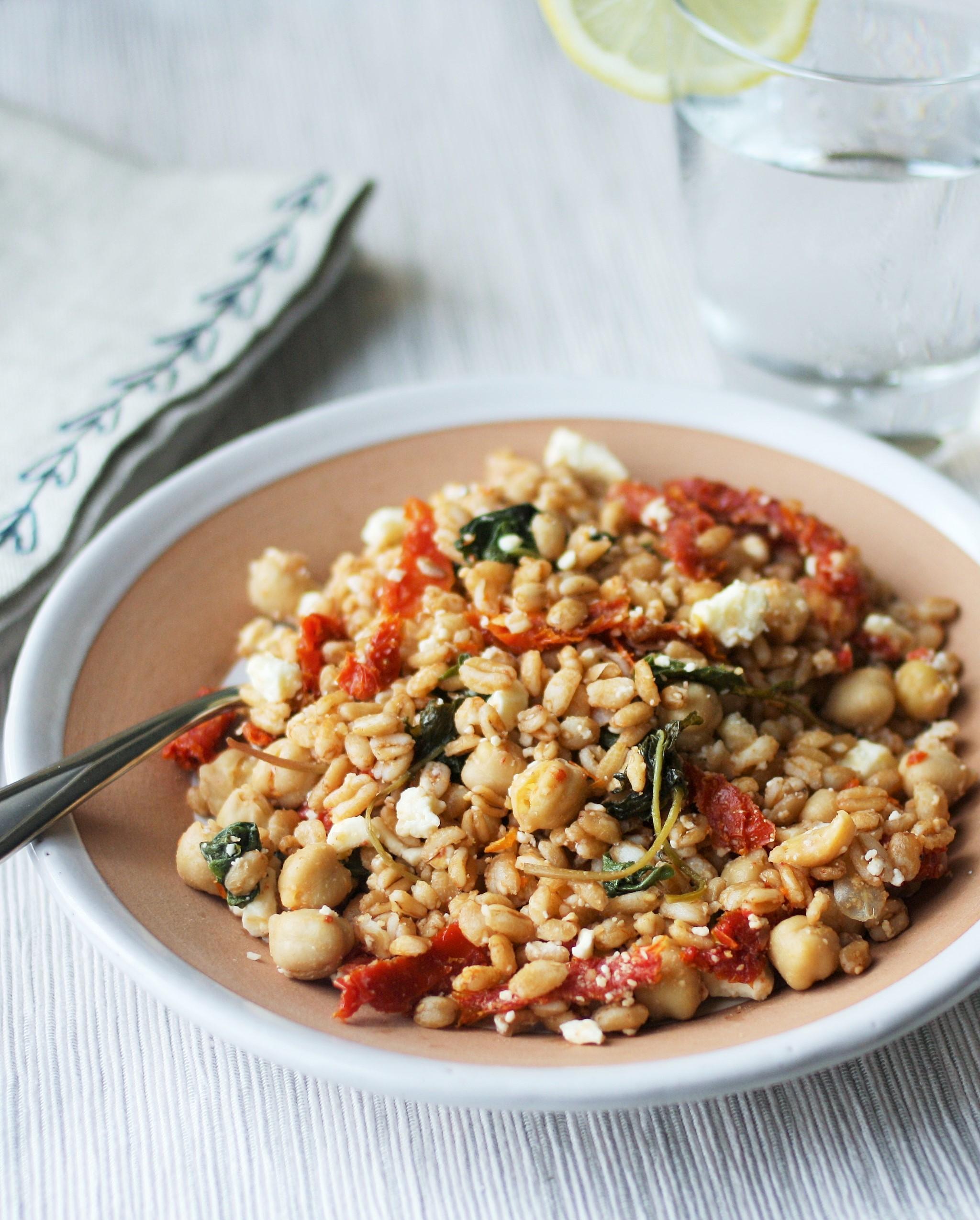 Mediterranean Farro Salad - Orchard Street Kitchen