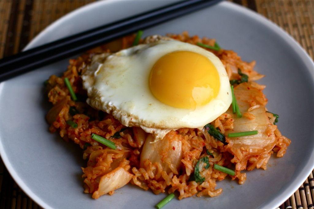Kimchi Fried Rice with Spinach - Orchard Street Kitchen