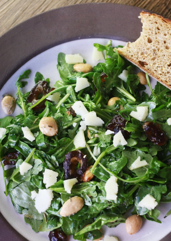 Manchego, Date and Almond Salad