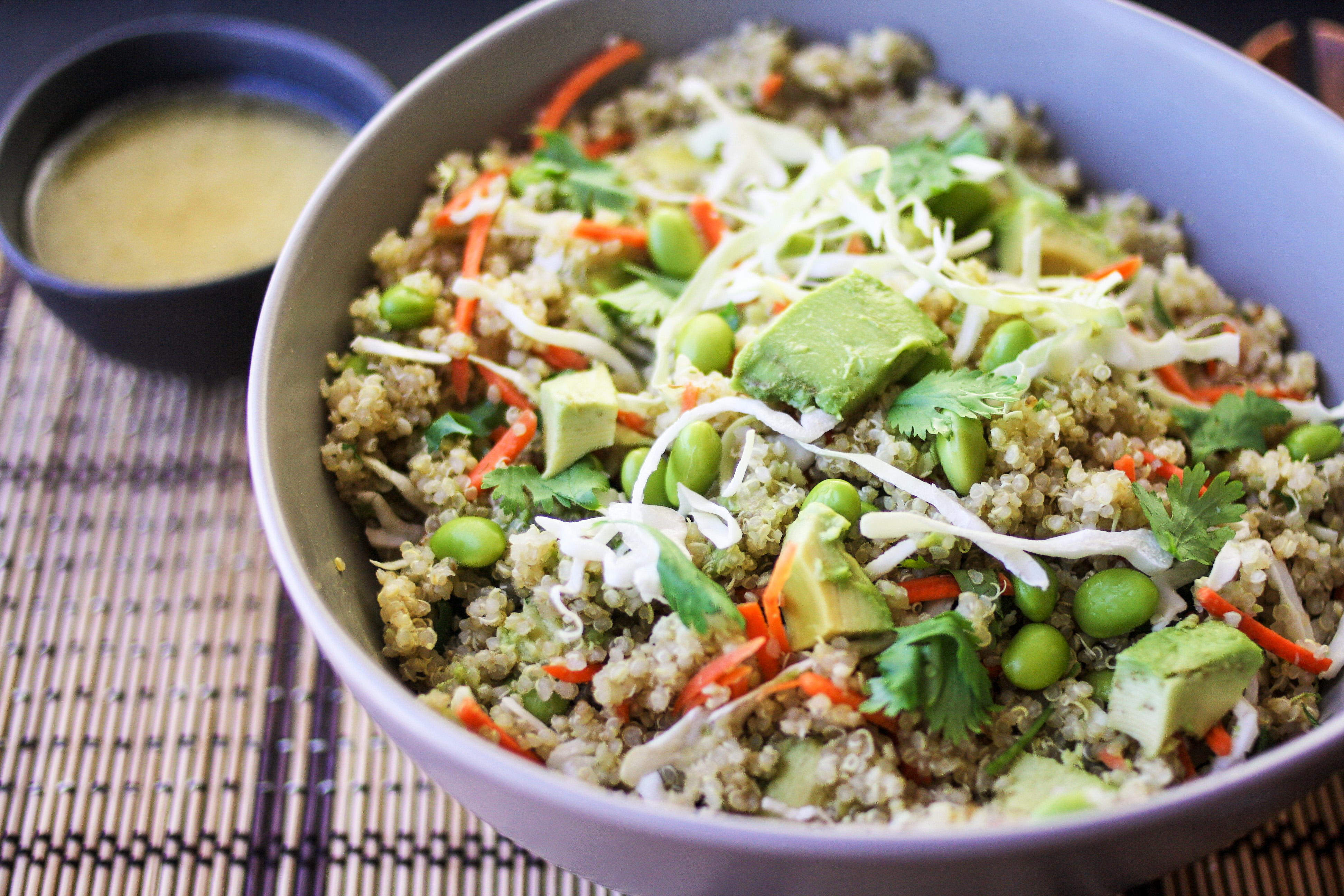 Asian Quinoa Bowl with Wasabi Lime Dressing - Orchard Street Kitchen