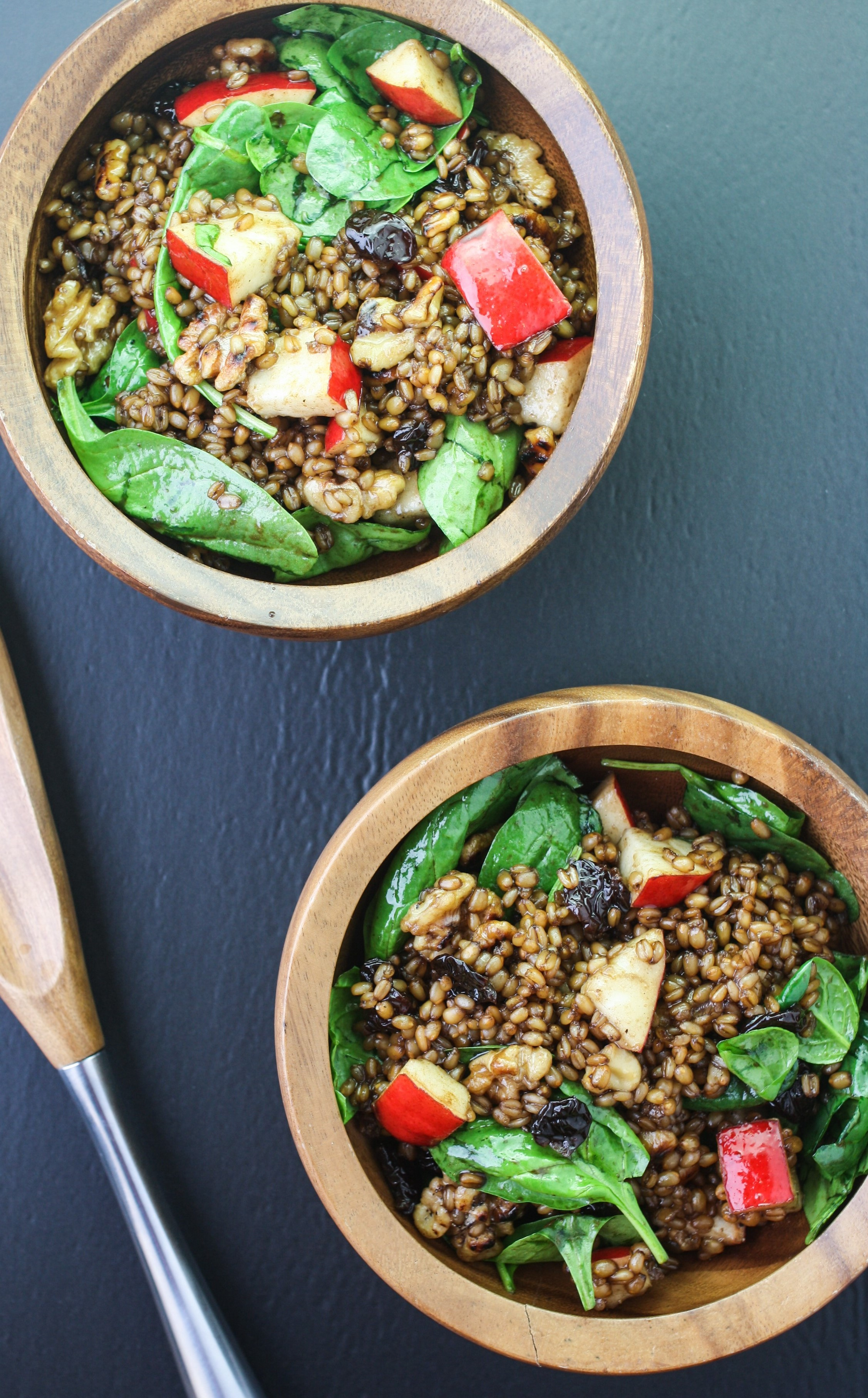 Pear and Walnut Wheatberry Bowl