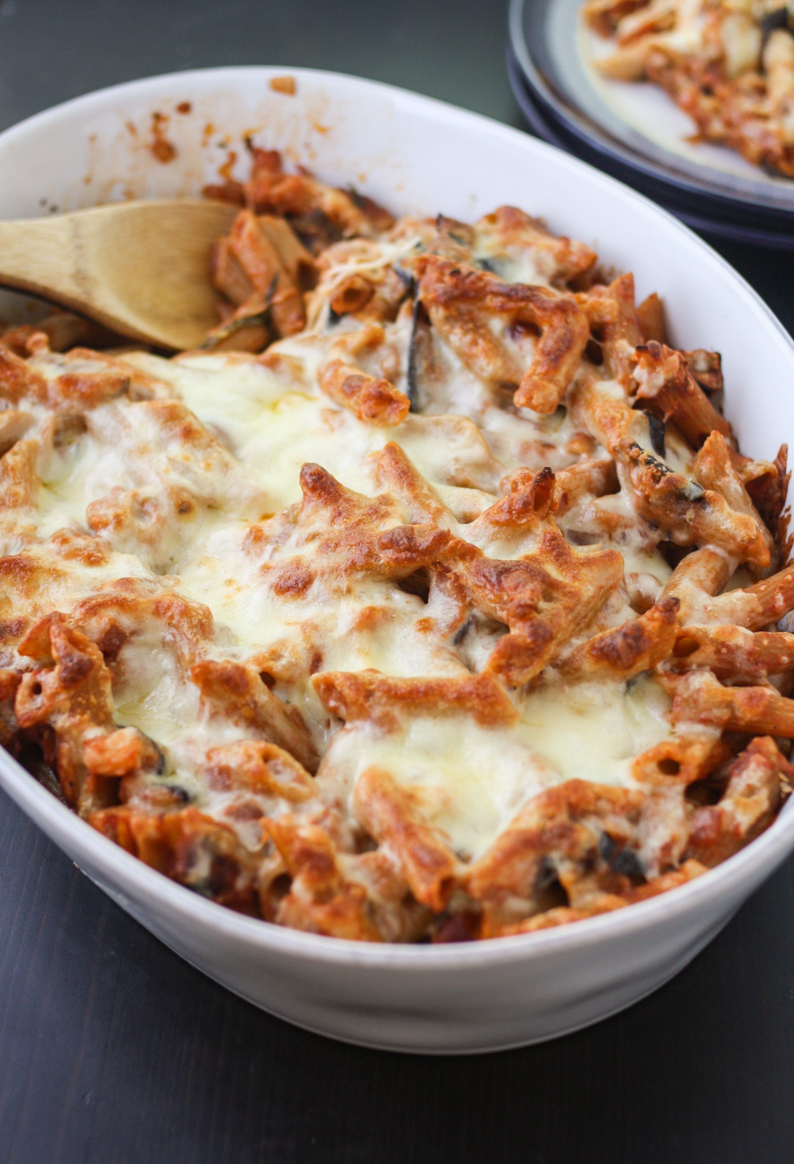 recipe: eggplant pasta casserole [9]