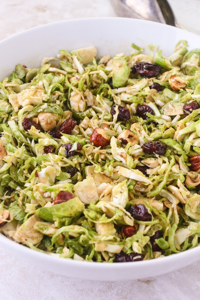 Shaved Brussels Sprouts with a Maple-Balsamic Vinaigrette