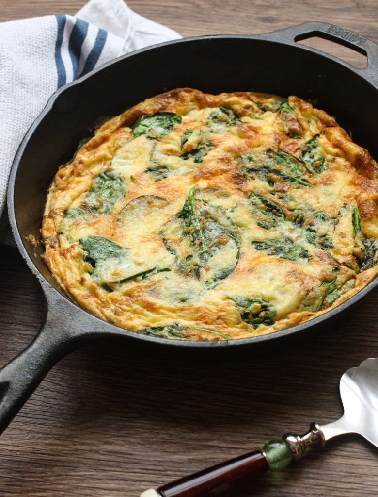 Potato, Cheddar and Spinach Frittata - Orchard Street Kitchen