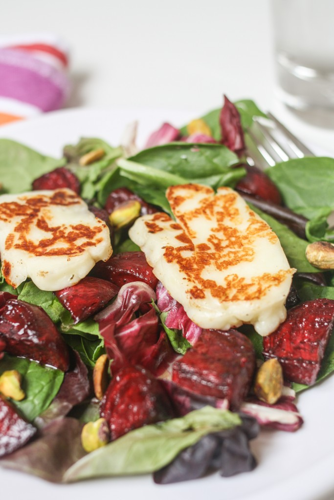 Beet and Halloumi Salad
