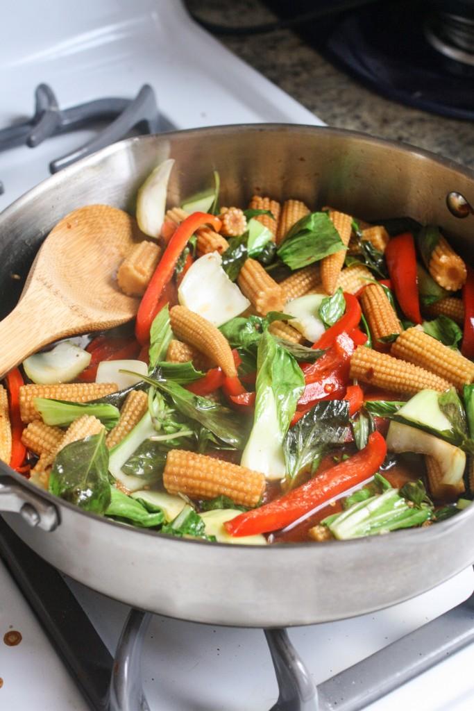 Thai Basil Tofu Stir Fry