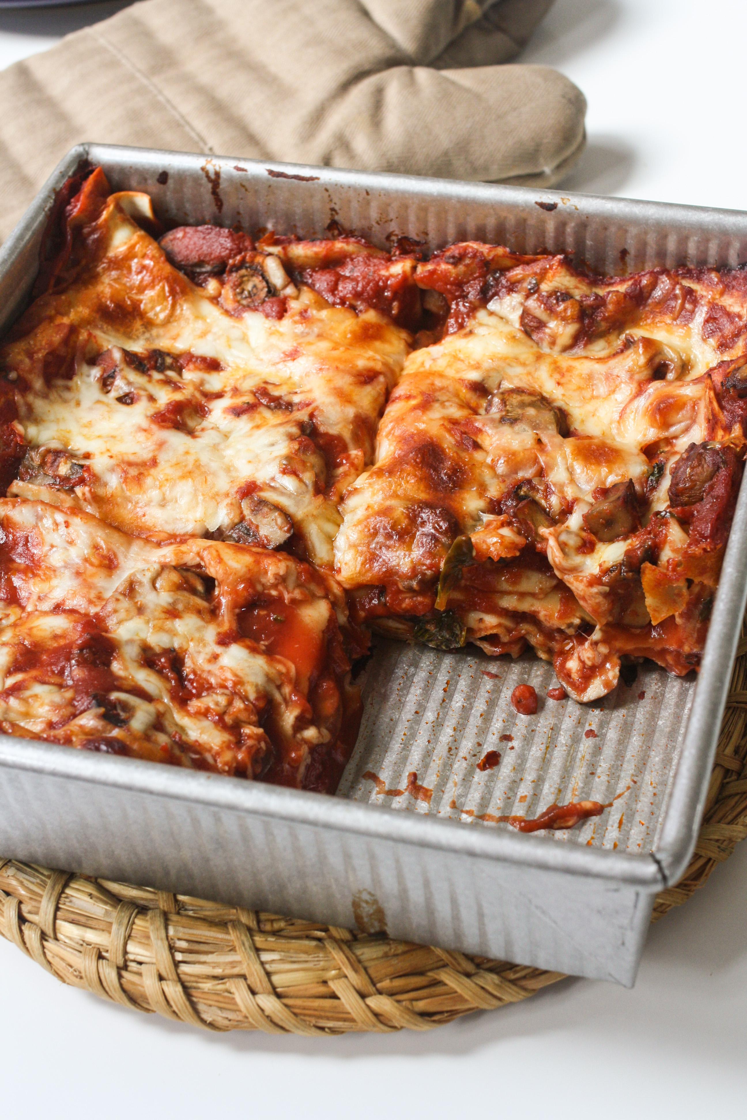 Mushroom Lasagna - Orchard Street Kitchen
