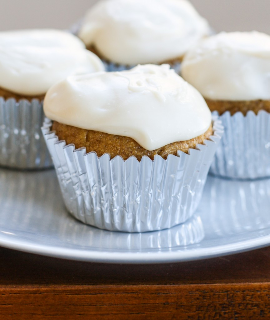 Maple Cream Cheese Frosting pumpkin cupcakes with maple cream cheese frosting - orchard street